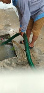 bồn cầu không rút nước đẫn đến ngập úng