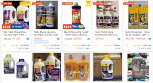 mua nước thông cống ở trang web bán hàng